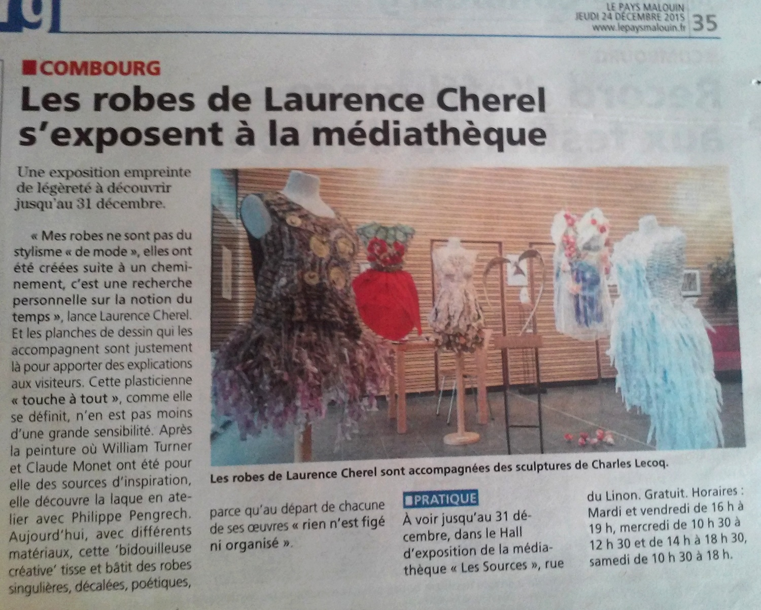 pays malouin combourg exposition laurence cherel